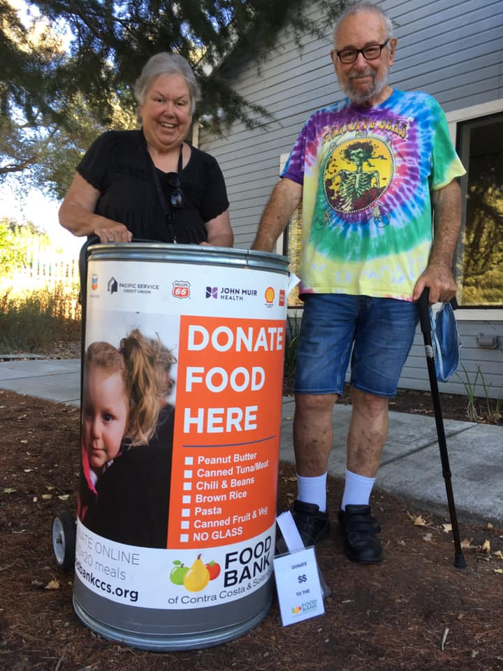 Food Bank donation barrel